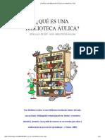 ¿Qué Es Una Biblioteca Áulica_ _ Biblioteca y Aula