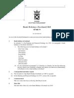 SPB075 - Bank Holidays (Scotland) Bill 2019