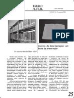 Texto referente a história e conservação de papel.