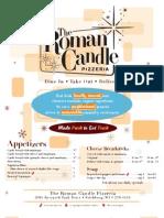Roman Candle Fitchburg Menu