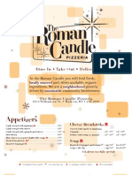 Roman Candle Williamson Menu