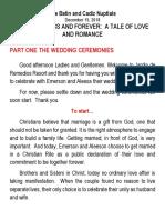 December 15 Wedding Script