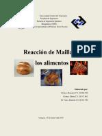 Proyecto Bioquimica Reaccion Maillard