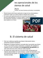 15.2 Definiciones Operacionales de Los Sistemas de Salud