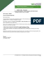 PGDM1548497563 Admit Card