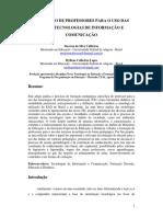 FORMAÇÃO DE PROFESSORES PARA O USO DAS NOVAS TECNOLOGIAS DE INFORMAÇÃO E COMUNICAÇÃO