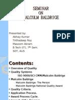 Seminar on Malcolm Baldrige