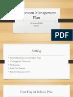 holder-classroom management plan