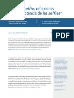 Sobre La Potencia de Las Selfies - Lorena Yazmín García Mendoza