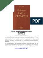 Le Grand Gaffiot, Dictionnaire Latin-français