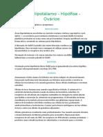Resumo Eixo Hipotálamo Hipófise Ovários
