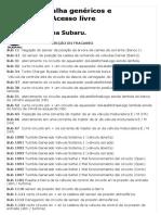 DTC_ Códigos de Avería Subaru