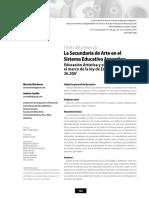 1. La Secundaria de Arte en El Sistema Educativo Argentino- Mardones y Cataffo