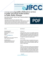 Factors Affecting Quality of Laboratory Services in Public and Private Health Facilities in Addis Ababa, Ethiopia