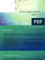 Definition of Diabtes Mellitus (2)