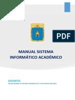 Manual sistema onformático académico