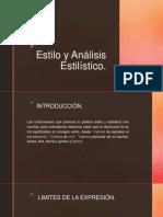 Estilo y Analisis Estilistico