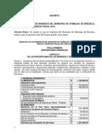 Ley Ingresos de Atemajac de Brizuela. 2016PDF