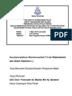 Teks Meraikan Petugas Ops Selamat Dan Kpn Cup TKP Perak