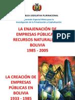 La enajenacion de las empresas publicas 1985-2005