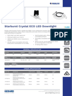 Starburst Crystal ECO LED Downlight