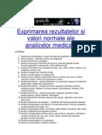 Interpretarea analizelor medicale