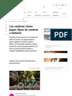 Las Canicas_ Cómo Jugar, Tipos de Canicas e Historia