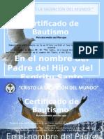 Certificados de Bautismo Icla