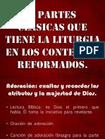 5 partes clásicas que tiene la liturgia reformada.