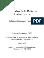 A 100 Años de La Reforma Universitaria Sobre Continuidades y Rupturas (2)