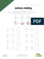 Fraction Addition Worksheet1