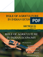 Role of Indian Agriculture