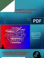 Presentación Pensamiento Complejo y Pedagogía