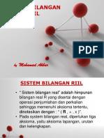 Sistem Bilangan Rill
