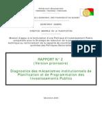 Diagnostics des mécanismes institutionnels de Planification et de Programmation des Investissements Publics