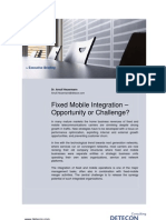 Fixed Mobile Integration - Opportunity or Challenge? (Detecon Executive Briefing)