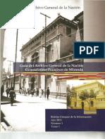 """Guía del Archivo General de la Nación """"Generalísimo Francisco de Miranda"""""""