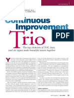 Continuous Improvement Trio (TOC, Lean and Six Sigma)