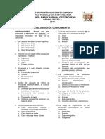 Evaluación Grado 6