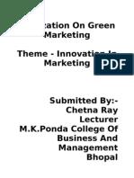 Realization on Green Marketing [1]