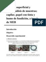 Análisis diversas muestras MEB