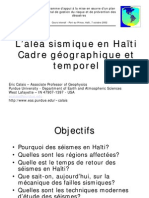 Alea_sismique HAITI  - Eric Calais - 7 octobre 2002