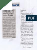 Manila Standard, Mar. 11, 2019, Andaya slams senators over parked pork.pdf