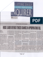 Philippine Daily Inquirer, Mar. 11, 2019, House Leader Defends Itemized changes in appropriation bill.pdf