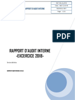 LE RAPPORT D'Audit Interne