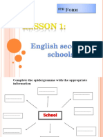 English Secondary Schools 1