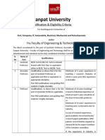 Qualification & Experience Criteria for Positions Under the Faculty of Engineering & Technology_0