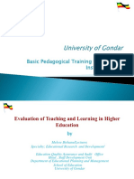 Pedagogical Training Power Point in 2005 E.C.