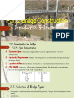 Selection of Type of Bridge