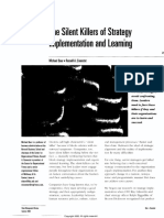 The Silent Killers of Strategy,Strategic
